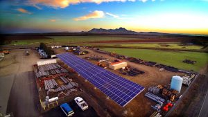 Commercial Ground Mount Solar Array installation