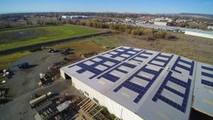 Commercial roof mounted Solar system