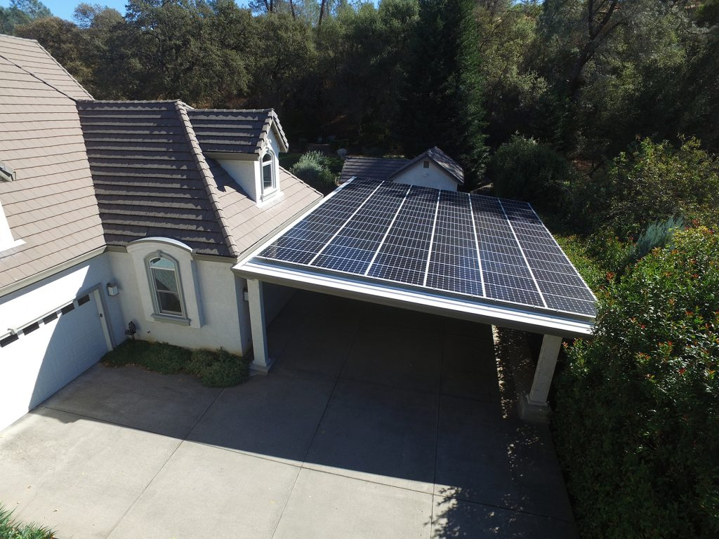 Custom Carport Solar Array